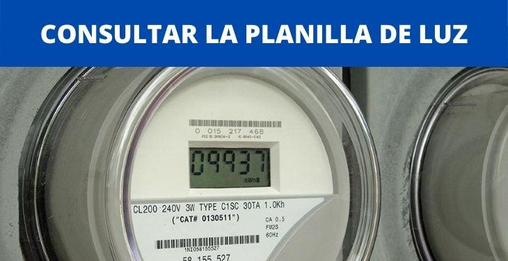 CONSULTAR LA PLANILLA DE LUZ